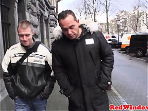 cocksucking amsterdam prostitute nutted on